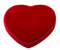 Red Velvet Heart with Copy Space Stock Photography