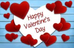 Red velvet heart greeting card Royalty Free Stock Photos