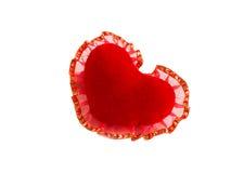 Red velvet heart. On a white background Stock Photo