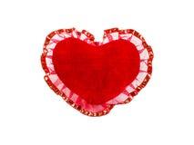 Red velvet heart Royalty Free Stock Photo