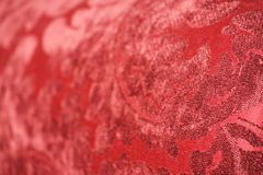 Red Velvet Jacquard Stock Image