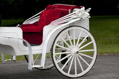 Red Velvet Lined Old Carriage Royalty Free Stock Image