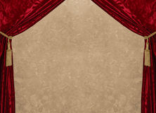 Red velvet & marble. This curtain is ready to receive your personal text royalty free stock photography
