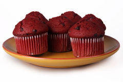 Red Velvet Muffins Stock Images