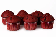Red Velvet Muffins Stock Photo