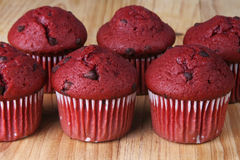 Red Velvet Muffins Stock Photos