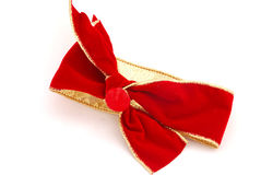 Red Velvet Ribbon and Bow stock photo