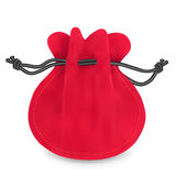 Red velvet sack. Stock Images