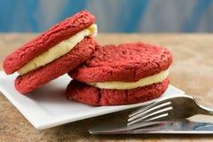 Red Velvet Sandwiches Stock Images