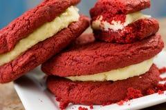Red Velvet Sandwiches Stock Photo