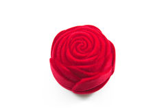 Red Velvet Silk rose Box for Royalty Free Stock Images
