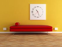 Red velvet sofa Royalty Free Stock Images