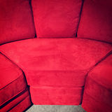 Red velvet sofa Royalty Free Stock Photos