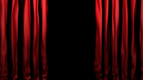 Red velvet stage curtains Royalty Free Stock Photography