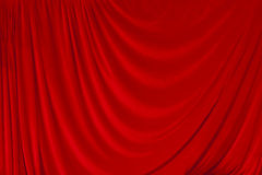 Red Velvet Theater Courtain Royalty Free Stock Image