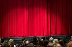 Red velvet theater curtain Stock Image