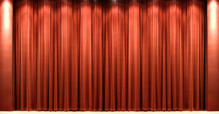 Red velvet theatre courtain royalty free stock images