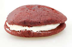 Red Velvet Whoopie Pie Stock Photography