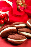Red Velvet Whoopie Pies Stock Image