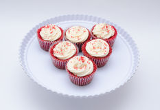 Red velvets in the table Royalty Free Stock Photo