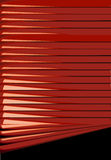 Red Venetian Blinds. Royalty Free Stock Photography