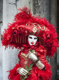 Red Venetian Disguise Royalty Free Stock Photos