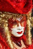 Red Venetian mask, Venice, Italy, Europe Royalty Free Stock Image