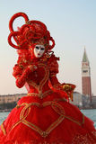 Red venice carnival dress Stock Image
