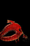 Red Venice mask Royalty Free Stock Images