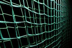 Red verde de la meta del fútbol Imágenes de archivo libres de regalías