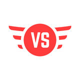 Red versus sign with wings Royalty Free Stock Images