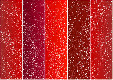 Red vertical banners full of stars. Vector illustration of five red gradient banners full of beautiful Christmas stars Royalty Free Stock Photography