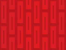 Red vertical rectangles on checkered background. Seamless geometric background. 3D layered and textured pattern with realistic shadow and cut out effect Stock Photos