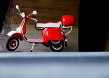 A red Vespa Stock Images