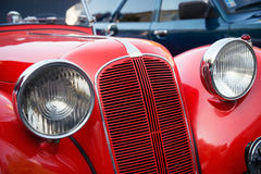 Red veteran car Stock Images