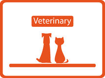 Veterinary background with pets Royalty Free Stock Photos