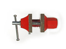 RED VICE TOOL TOP VIEW Royalty Free Stock Images