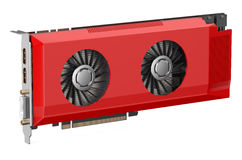 Red video card Royalty Free Stock Photography