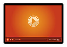 Red video player Royalty Free Stock Images
