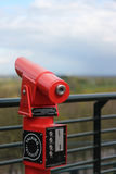 Red viewing telescope Stock Photo