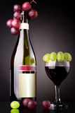 Red vine bottle Royalty Free Stock Photo