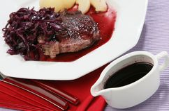 Red vine sauce Royalty Free Stock Image