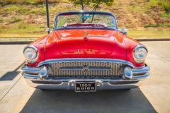 Free Red Vintage 1955 Buick Convertible Classic Car Stock Photo - 161736360