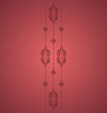 Red Vintage. Ornament design elements Royalty Free Stock Images
