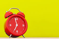 Red Vintage Alarm Clock.  3d Rendering Royalty Free Stock Images