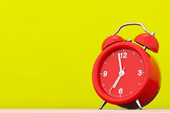 Red Vintage Alarm Clock.  3d Rendering Royalty Free Stock Photos