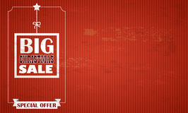 Red Vintage Background Christmas Sale Royalty Free Stock Photo