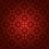 Red vintage background with gold ornament - eps. Red beautiful vintage background with gold ornament - vector. Eps 8 Stock Photo