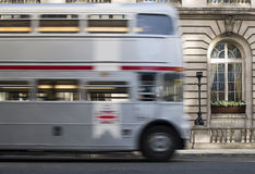 Red vintage bus in London. Royalty Free Stock Photo