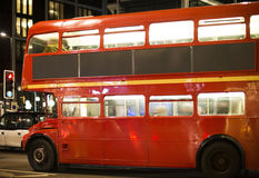 Red vintage bus in London. Stock Images